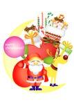 Vrolijke Kerstmispictogram, elementen en objecten reeksen - illustratie eps10 Stock Afbeeldingen