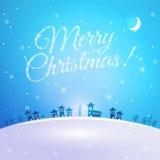 Vrolijke Kerstmisprentbriefkaar Stock Foto's