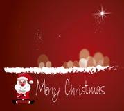 Vrolijke Kerstmissanta Stock Afbeeldingen