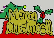 Vrolijke Kerstmisschrijver uit de klassieke oudheid Stock Afbeelding