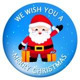 Vrolijke Kerstmissticker/knopen Stock Afbeelding
