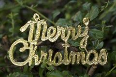 Vrolijke Kerstmistekst Stock Afbeeldingen