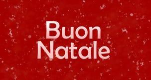 Vrolijke Kerstmistekst in het Italiaans Stock Foto