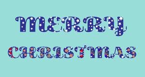 Vrolijke Kerstmistekst met grappige brieven stock illustratie