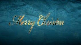 Vrolijke Kerstmistekst op bevroren venster stock videobeelden