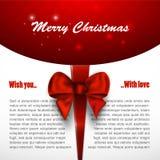Vrolijke Kerstmisuitnodiging als achtergrond, Kerstmiskaart Royalty-vrije Stock Foto