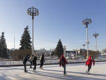 Vrolijke Kerstmisvakantie in Moskou Stock Foto's