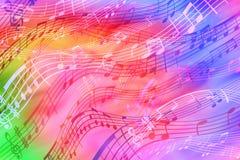 Vrolijke, kleuren abstracte achtergrond op een muzikaal thema stock illustratie