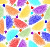 Vrolijke kleurrijke achtergrond met ventilatormotief Royalty-vrije Stock Afbeelding