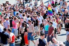 Vrolijke, lesbische trots Stock Foto's