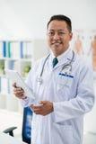 Vrolijke medische arbeider Stock Foto