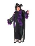 Vrolijke mens, de Koningin van de Belemmering, in een Vrouwelijk Kostuum Stock Foto's