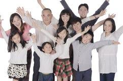 Vrolijke multigeneratiefamilie Stock Foto