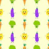 Vrolijke naadloze groenten royalty-vrije illustratie