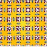 Vrolijke oranje naadloze achtergrond Royalty-vrije Stock Afbeelding