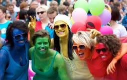 Vrolijke parade Oslo Stock Foto's