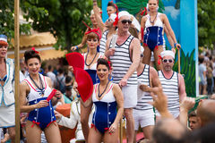 Vrolijke parade in Sitges Royalty-vrije Stock Afbeelding