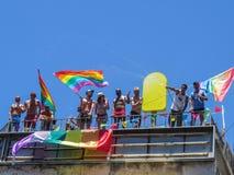 Vrolijke Parade in Tel Aviv Stock Foto's
