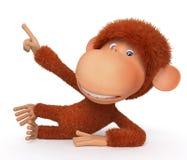 Vrolijke, rode aap Stock Afbeelding