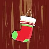 Vrolijke Rode Groene de Streepkerstmis Socks van de Kerstmis Leuke Ster Royalty-vrije Stock Afbeelding