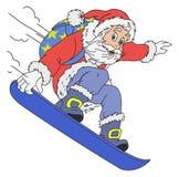 Vrolijke Santa Claus Cartoon Royalty-vrije Stock Foto