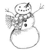 Vrolijke Sneeuwman Stock Afbeelding