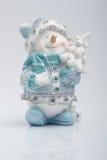 Vrolijke Sneeuwman Royalty-vrije Stock Foto's