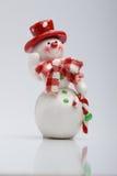 Vrolijke Sneeuwman Stock Foto