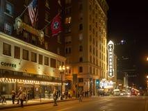Vrolijke Straat, Knoxville, Tennessee, de Verenigde Staten van Amerika: [Het Nachtleven in het centrum van Knoxville] royalty-vrije stock fotografie