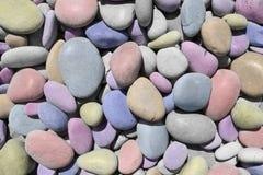 Vrolijke textuur met kleurrijke gekleurde overzeese stenen royalty-vrije stock foto