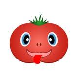 Vrolijke tomaat Vector eps10 Stock Afbeeldingen
