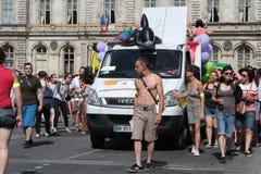 Vrolijke Trots in de straten van Lyon Stock Foto