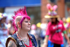 Vrolijke trotsparade in Manchester, het UK 2011 Stock Afbeelding