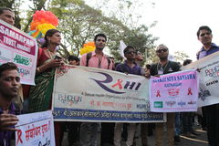 Vrolijke Trotsparade in Mumbai Royalty-vrije Stock Fotografie
