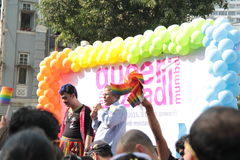 Vrolijke Trotsparade in Mumbai Royalty-vrije Stock Afbeelding