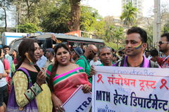 Vrolijke Trotsparade in Mumbai Stock Afbeelding