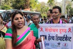 Vrolijke Trotsparade in Mumbai Stock Afbeeldingen