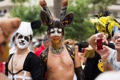 Vrolijke trotsparade in Sitges Stock Fotografie