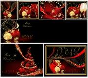 Vrolijke van Kerstmis inzamelingen als achtergrond royalty-vrije illustratie