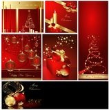 Vrolijke van Kerstmis inzamelingen als achtergrond stock illustratie