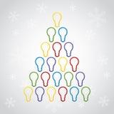 Vrolijke Vrolijke de groetkaart van Kerstmis Royalty-vrije Stock Afbeelding