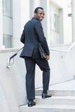 Vrolijke zakenman royalty-vrije stock fotografie