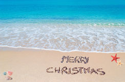Vrolijke zandige Kerstmis Royalty-vrije Stock Afbeelding