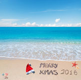 Vrolijke zandige Kerstmis 2016 Royalty-vrije Stock Foto's