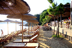 Vromolimnos beach, Skiathos, Greece. Royalty Free Stock Photos