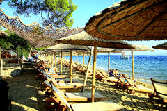 Vromolimnos beach, Skiathos, Greece. Stock Photography