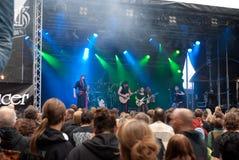 VROUDENSPIL. German medieval pirates folk band VROUDENSPIL at BURGFOLK festival 2010 stock images
