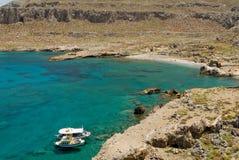 Vrougouda Griechenlands, Karpathos-Insel Strand Lizenzfreie Stockfotografie