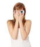 Vrouw in 3d bioskoopglazen Royalty-vrije Stock Afbeeldingen