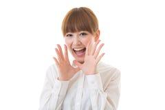 Vrouw aan steun Royalty-vrije Stock Afbeelding
